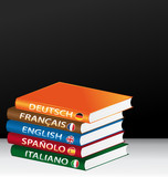 Fototapety Foreign languages books