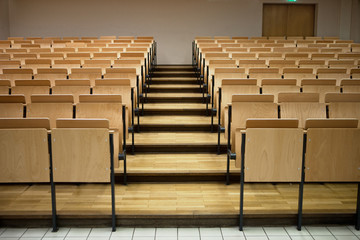 Seats in a lecture room