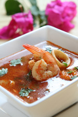 Tom Yum (Thai Hot and Sour Soup)