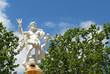 Leinwanddruck Bild - fontaine de Neptune, carcassonne