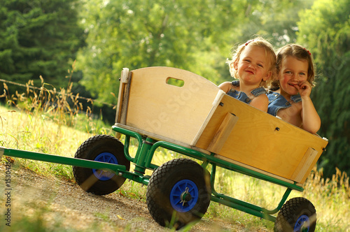 2 Little sisters having fun