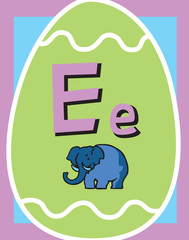 Flash Card Letter E nouns. See whole alphabet in my series!