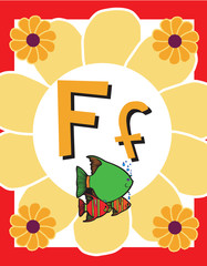 Flash Card Letter F nouns. See whole alphabet in my series!