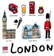 Lots de dessins vectoriels de symboles de Londres