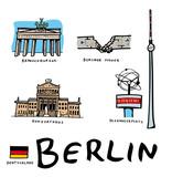 Lots de dessins vectoriels des monuments de Berlin