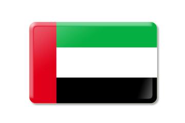 Vereinigte Arabische Emiratebutton rechteckig