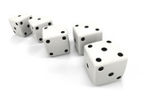 Dice in a Row in the Order of Fibonacci Sequence poster