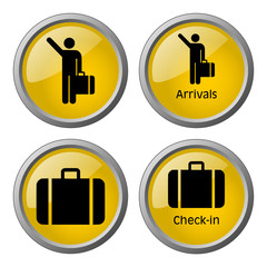 Arrivals & Baggage Check-in Symbols