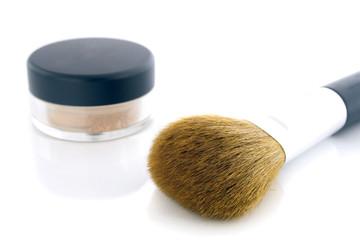 Make-up brush and powder jar