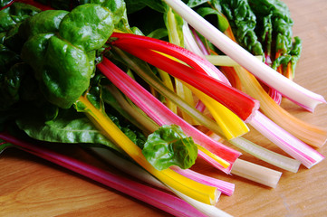 Bunch of colorful mangold crops