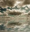 Fototapeta Dramatyczne - Morze - Zachód / Wschód Słońca