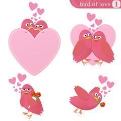 Oiseau de l'amour 1 (détouré)