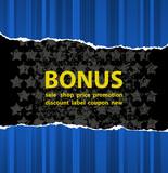 Blue bonus poster