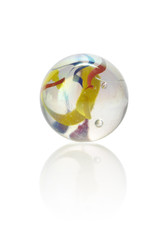 Multicoloured isolated glass marbel