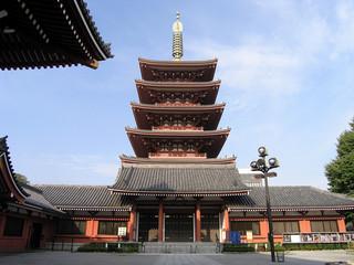 Pagode des Sensoji Tempels auch Kannon Tempel genannt