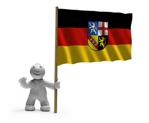 saarland flagge lachen