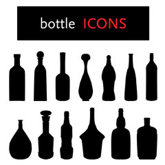 silhouette of bottles