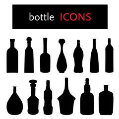 silhouette of bottles