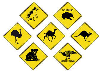 Australians Road-Signs