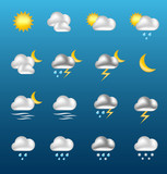 Fototapety Vector shiny WEATHER icons [01]