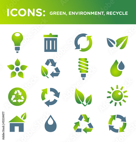 ICONS: green, environment, recycle