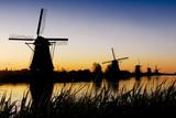 dutch mills sunrise 1 poster