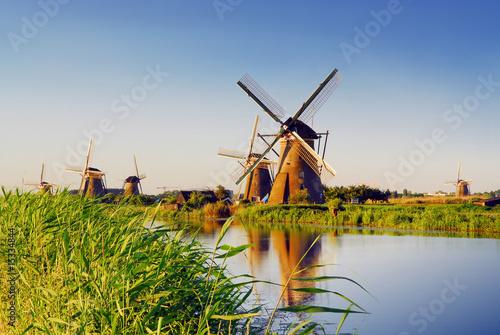 Foto op Canvas Amsterdam dutch mills 3