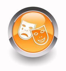 Theatre glossy icon