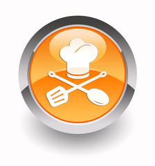 Chef glossy icon