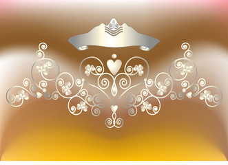 Background composition.with diadem. Vector illustration.