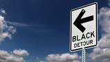 Black Detour Sign 749
