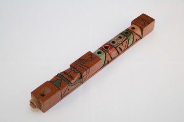 Flauta de madera boliviana.