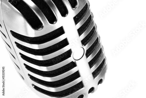 Leinwandbild Motiv microphone vintage