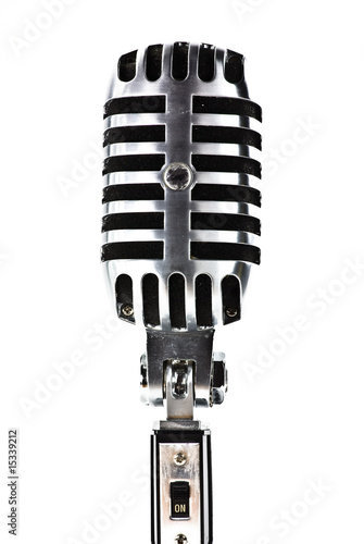 Poster vintage microphone