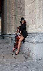 Young Violoncello Player