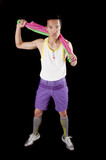 young Asian man in fashion sportswear poster
