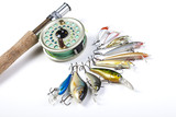 Tackle box for fly fishing