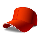Red cap. Vector. Insert your logo. poster