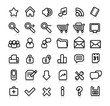 simple web icons with reflection