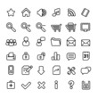 simple black and white web icons