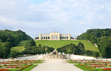 View of the Great Parterre on to the Gloriette