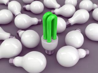 lampadina basso consumo verde