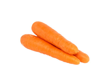 Heap   carrot on white background. Isolated.