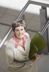 Aerial view of businesswoman