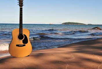 Beached Guitar
