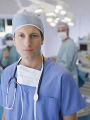 Man in scrubs in operating room