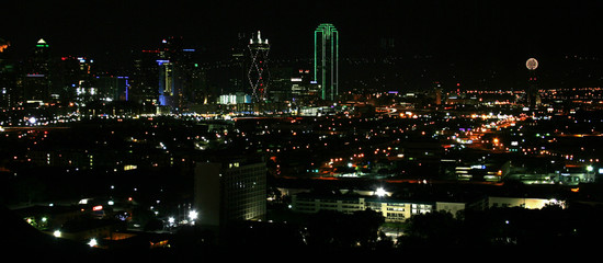 A View of Downtown Dallas at Night