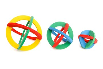 Toy rubber spherical models isolated