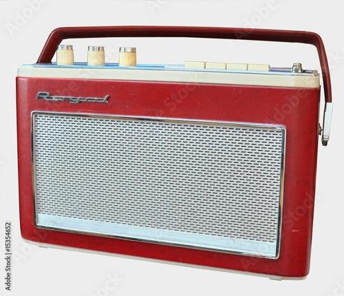 Leinwanddruck Bild Radio Kofferradio aus den 60ern