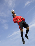 Soccer Football Player making Header poster